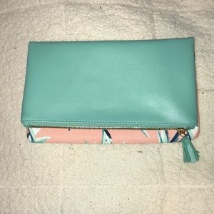 Rachel Pally Paradise Mint-Coral Reversible Clutch
